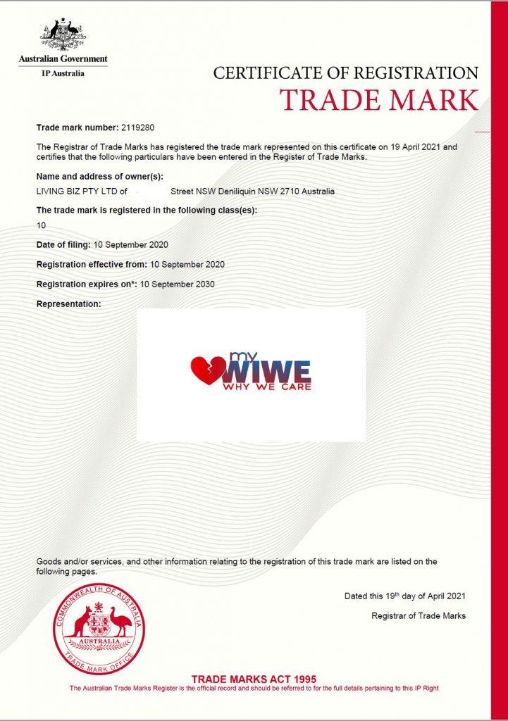 myWIWE Trademark